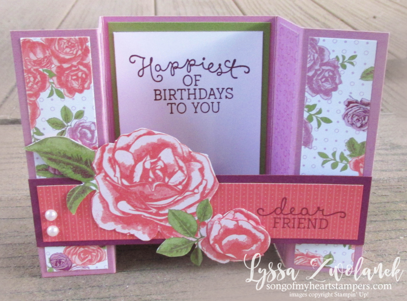 Bridge fold card tutorial free easy quick stampin up rubber stamping techniques