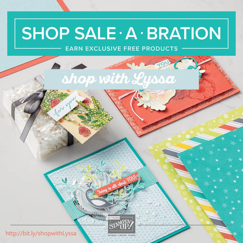 SAB begins january 2018 stampin up sale a bration saleabration