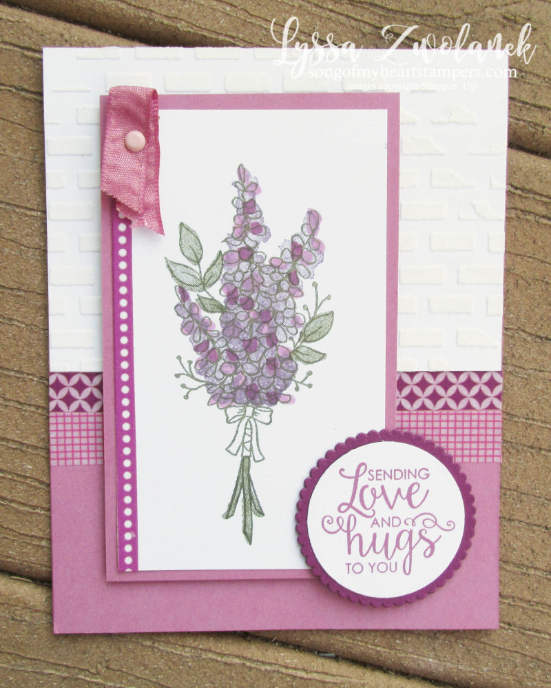 Lots of lavender saleabration stampin up rubber stamps wildflower stamparatus sweet sugarplum