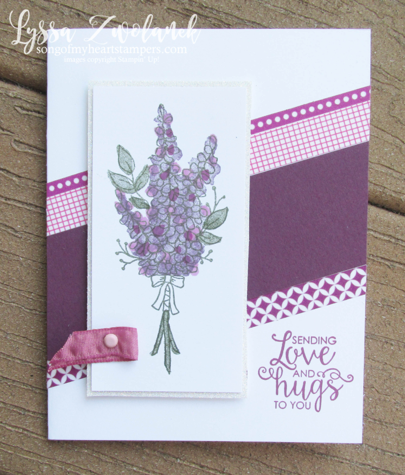 Lots of lavender saleabration stampin up rubber stamps wildflower diagonal stamparatus sweet sugarplum