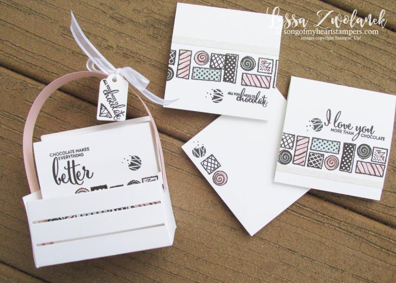 More than Chocolate Stampin Up valentine box chocolates wooden create mini 3x3 stamp