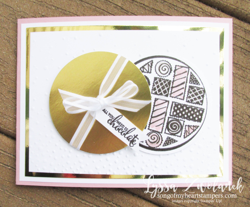 More than Chocolate Stampin Up valentine box chocolates heart card stamp