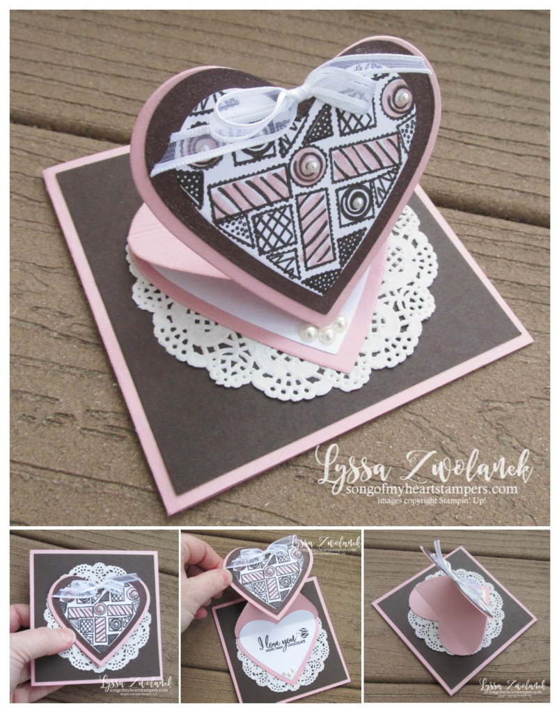 Heart Pop Up mini valentine chocolate box card