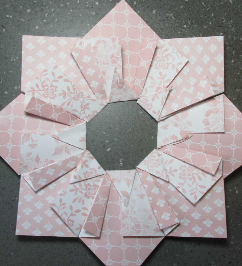 Quilted Paper wreath double tutorial 6