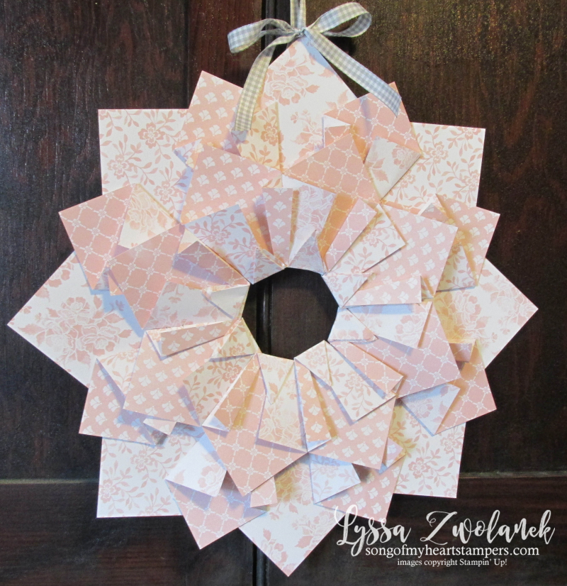 Quilted paper wreaths extra large double papercrafts crafts DIY wreath idea front door