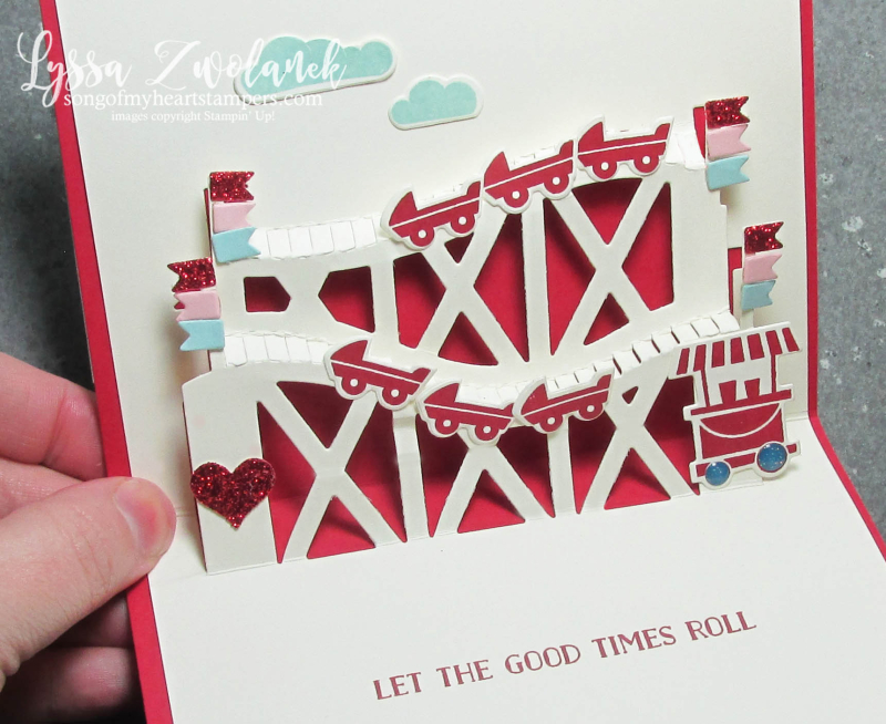 Valentine roller coaster let good times roll thrill ride pop up sizzix thinlets big shot Stampin Up