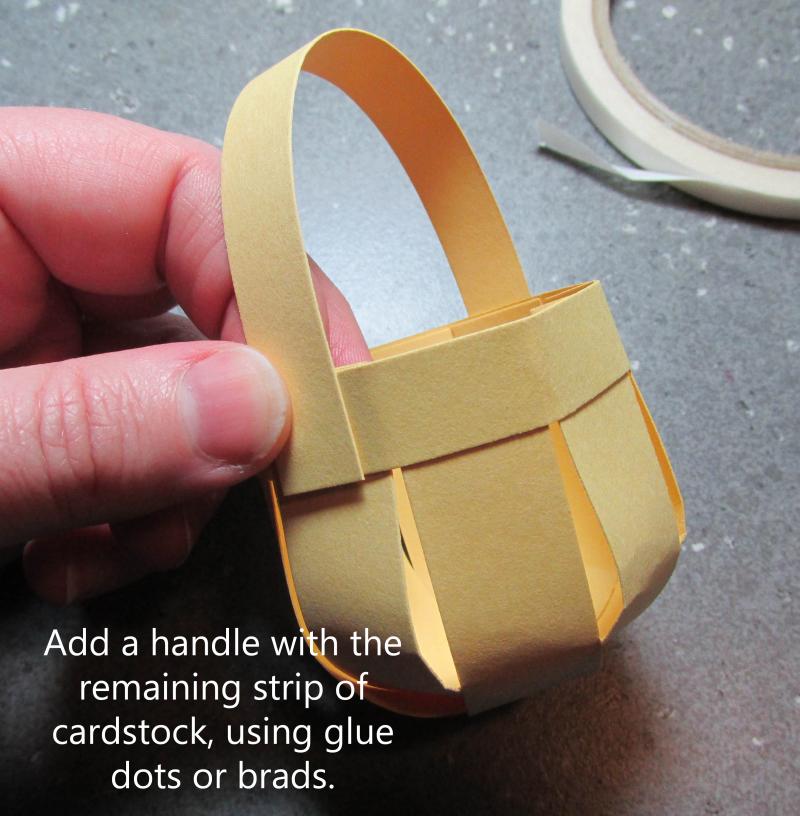 Cadbury egg mini basket creme tutorial paper box free Stampinup 3