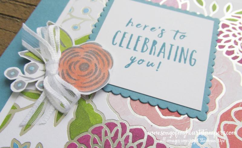 Sweet Soiree stampin up shop now scrapbooking rubber stamping 12x12 papers cake weddings DIY cardmaking