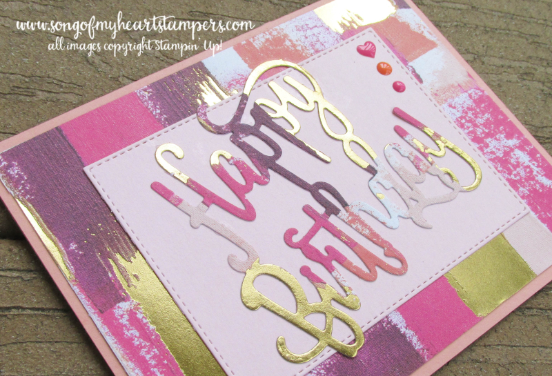 Painted with love die cut framelits watercolor wash golf foil embossing diecuts 12x12 papers