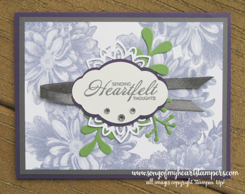 Heartfelt Blooms free stamp set SAB 2018 Stampin Up saleabration daisy layouts cardmaking
