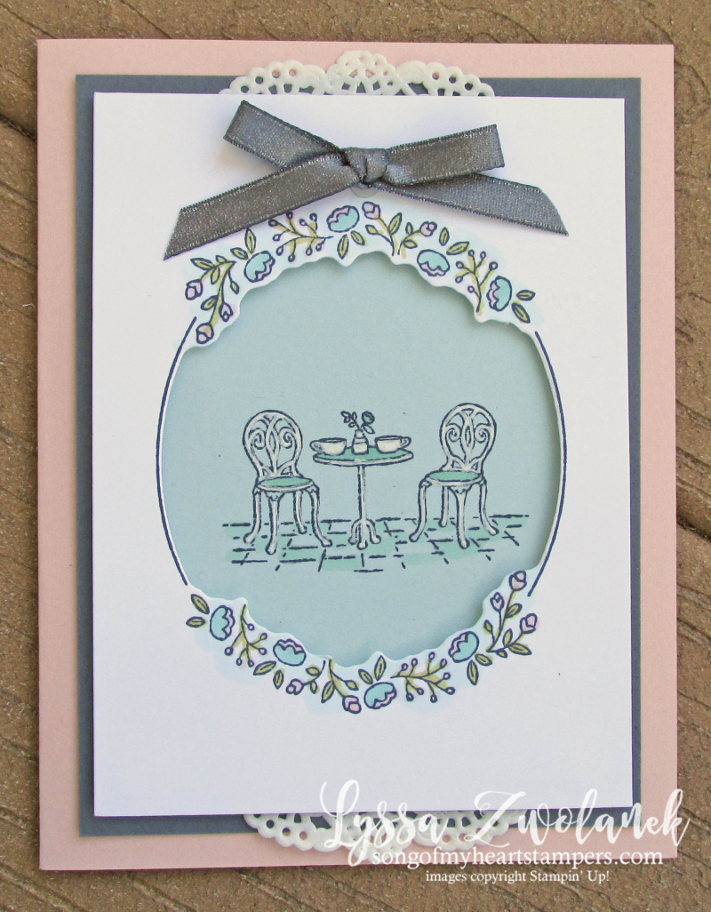 Charming cafe paris bistro set rubber stamps Stampin Up bakery tea coffee