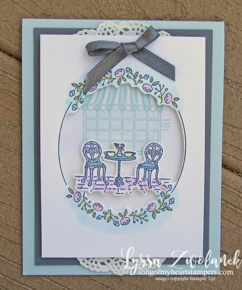 Charming cafe paris bistro set rubber stamps Stampin Up bakery coffee