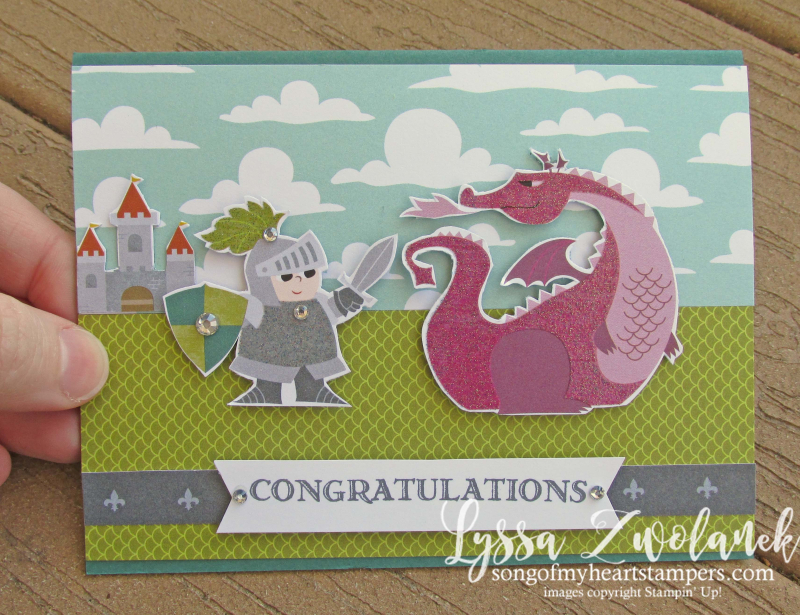 Myths magic magical day castles dragon knights Stampin Up rubber stamps