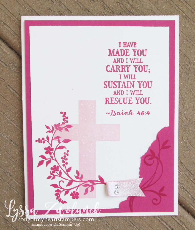 Hold onto hope cross easter religious scripture bible verse stamps stampin up Lyssa