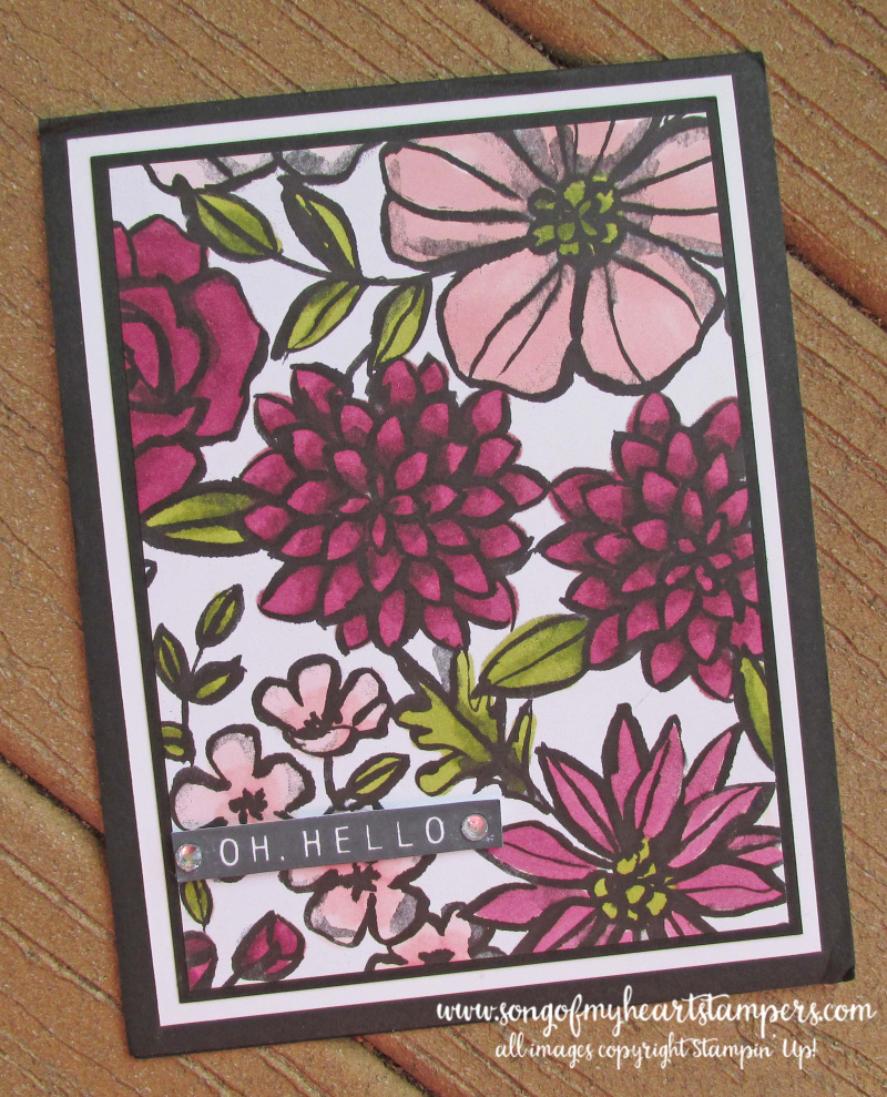 Petal palette stampin up blends alcohol markers paper coloring adult rubber stamps