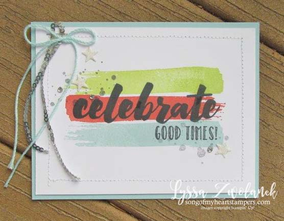 Happy celebrations stampin up rubber stamping set technique free tutorials birthday