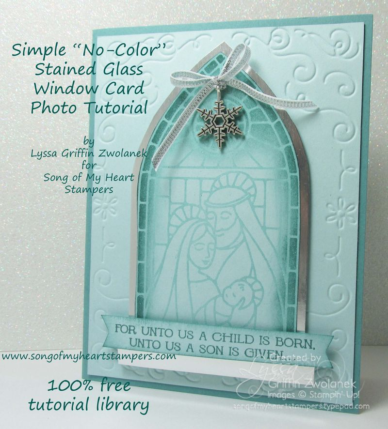 Simple no color stained glass tutorial