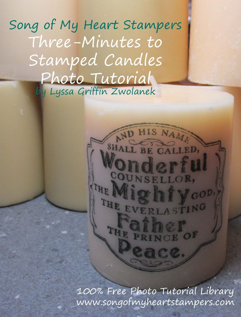 SOMHS Stamped Candle Tutorial