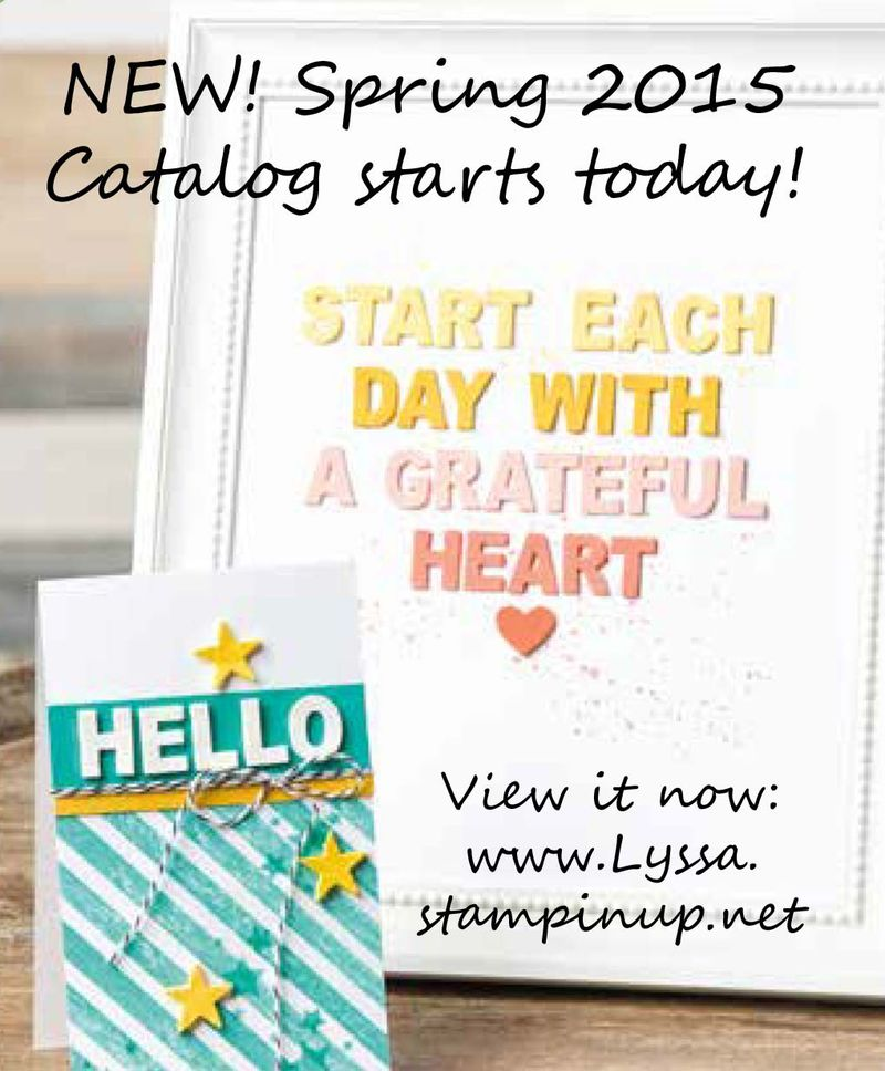 Spring Catalog starts today