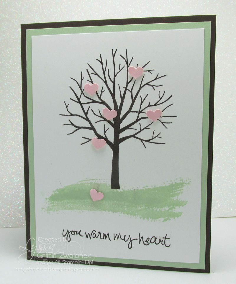 Sheltering tree Stampin Up valentine card