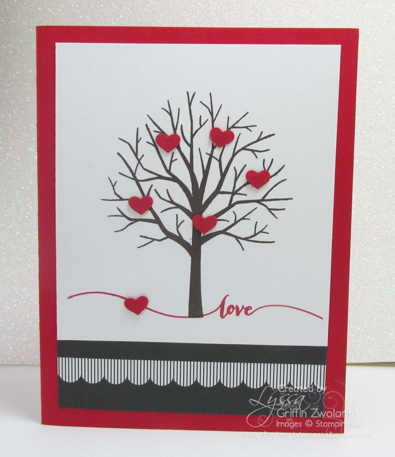 ShelteringTree Hearts Valentine Stampin Up Card