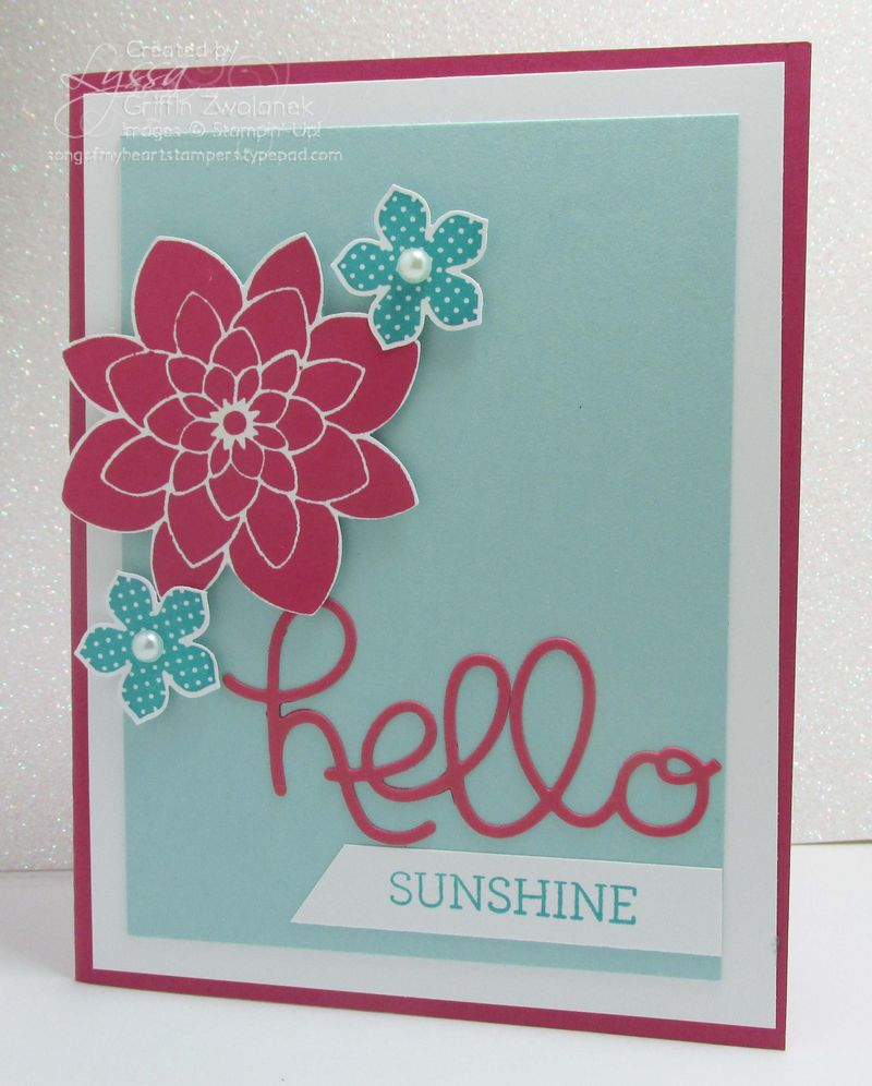 Hello You Thinlet Big Shot Stampin Up card