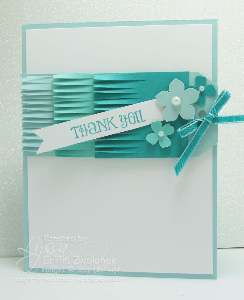 Ombre Fringe Scissors Tag Stampin Up Thank You Card