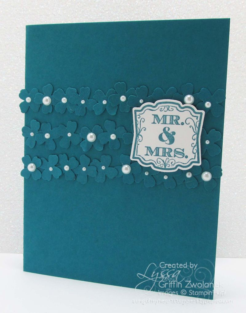 Monochromatic Wedding Card Stampin' Up punches