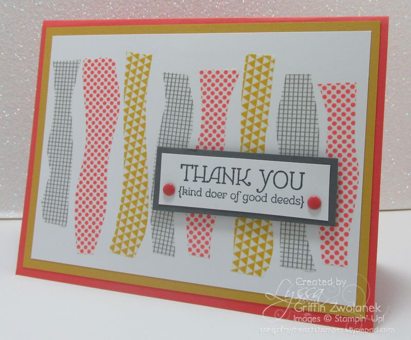 Wavy Washi Technique Thanks Card