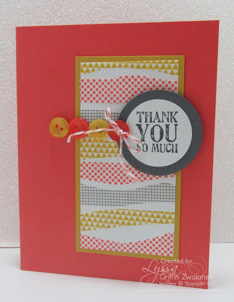 Wavy Washi Technique Stampin Up Card