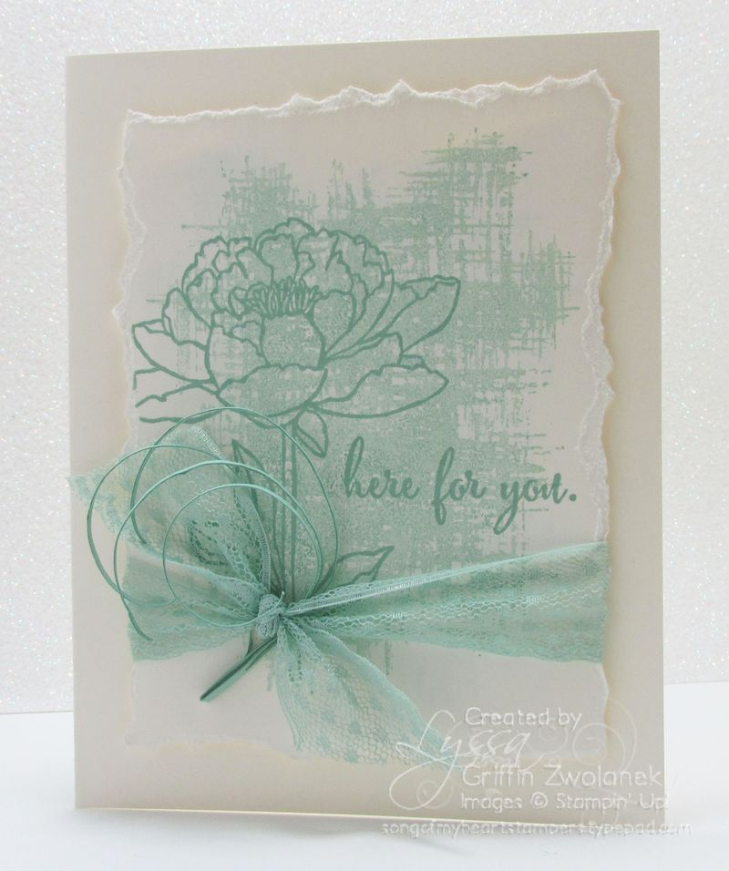 Mint Macaroon Vanilla Encouragement Card Stampin Up
