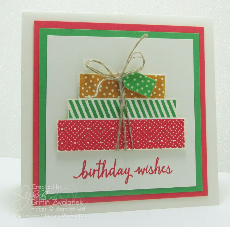 Build a Birthday presents Stampin Up In Colors