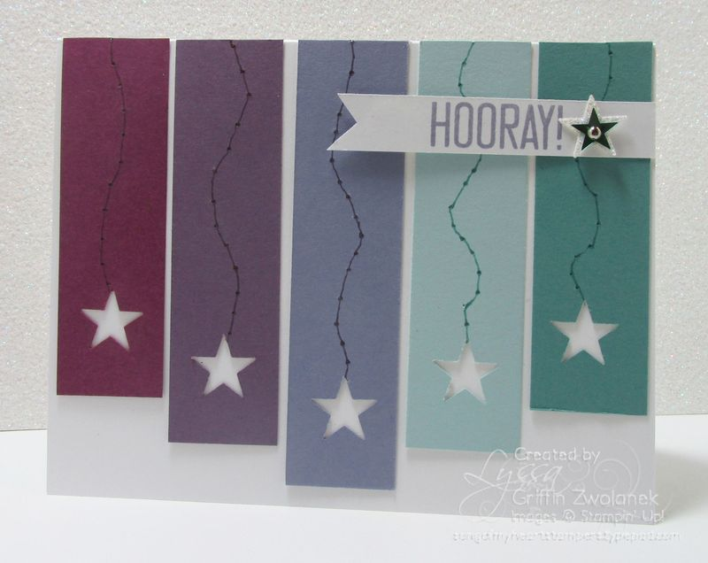 Cheat Sheets Dripping Stars Original Design Stampin Up card