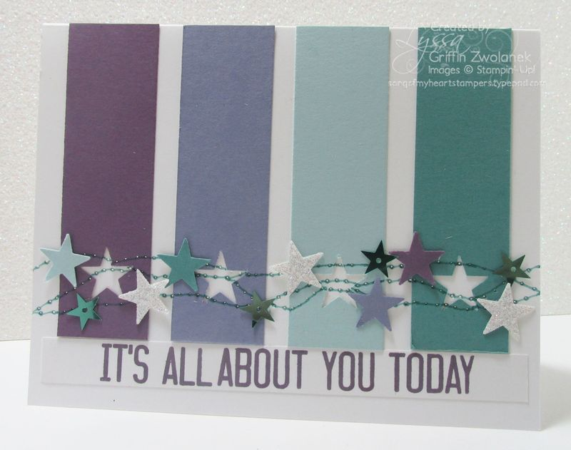 Cheat Sheets Dripping Stars Variation Stampin Up card
