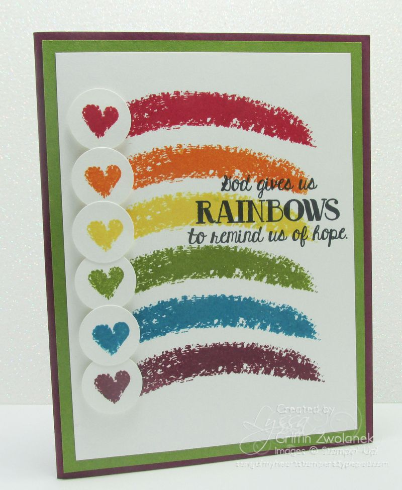 Over the Rainbow of Hope Card Stampin Up