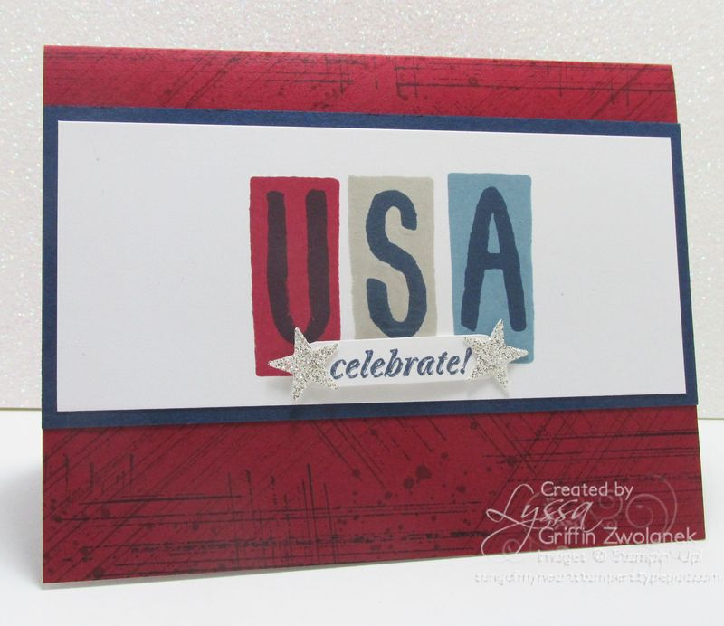 USA Fourth of July Stampin Up Card
