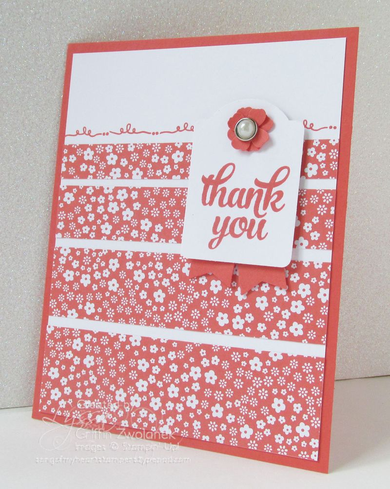 Happy Hello Tin of Cards Thanks Stamp Set Stampin Up Card