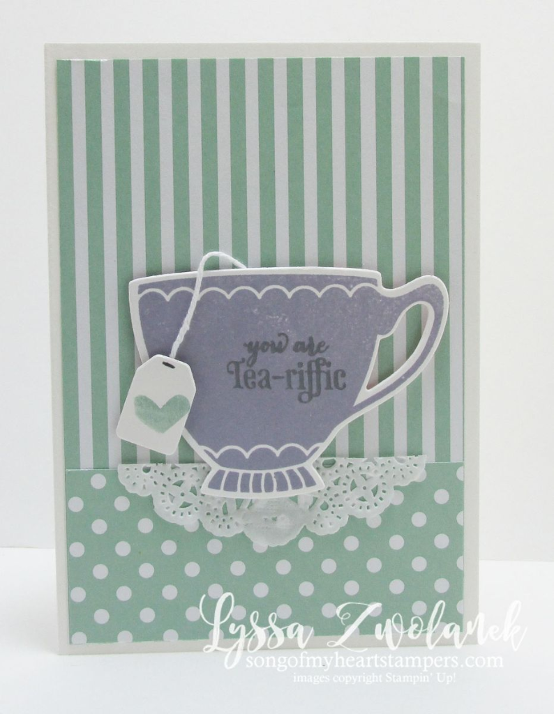Have A Cuppa Framelits Teacup card Stampin Up songofmyheartstampers.com