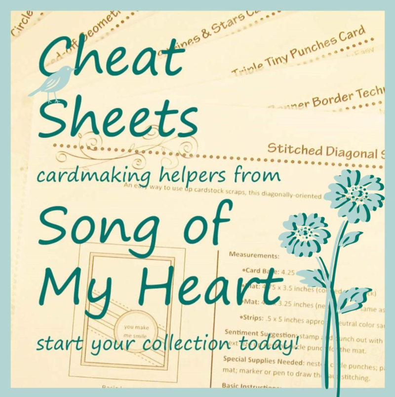 Cheat Sheets Collections from SOMHS www.songofmyheartstampers.com