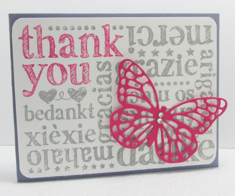 world of thanks butterfly basics framelits Big Shot Stampin Up www.songofmyheartstampers.com