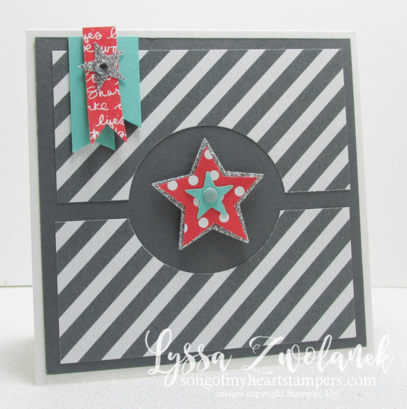 bold diagonal stripes stars birthday card Stampin UP www.songofmyheartstampers.com