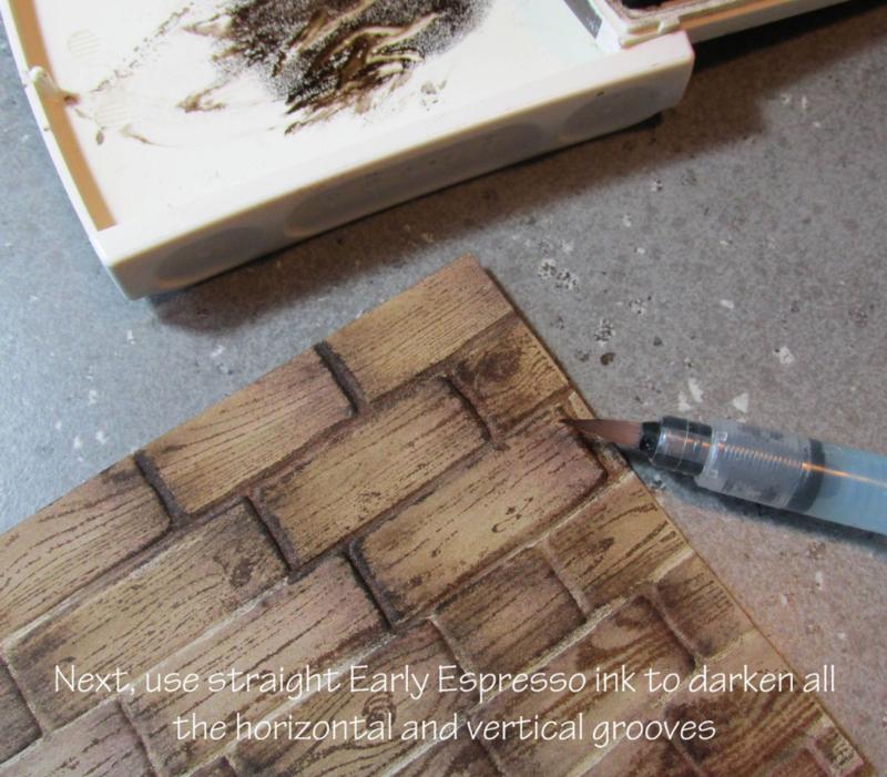 stampin up basket weave tutorial brick wall embossing folder www.songofmyheartstampers.com Big Shot