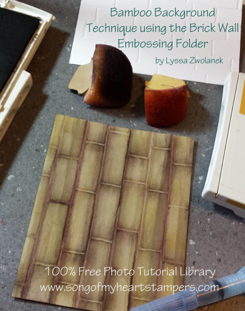 Bamboo from brick wall technique #stampin up Big Shot www.songofmyheartstampers.com background