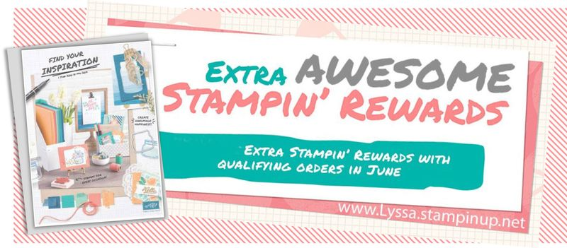 Extra awesome rewards stampin up songofmyheartstampers
