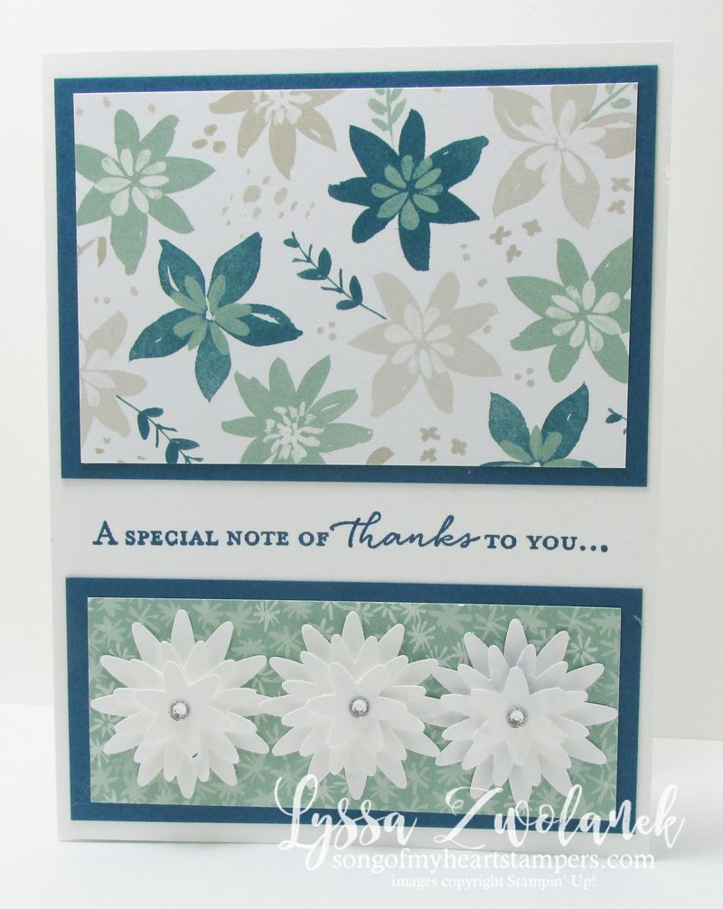Split front technique thank you cards stampin up