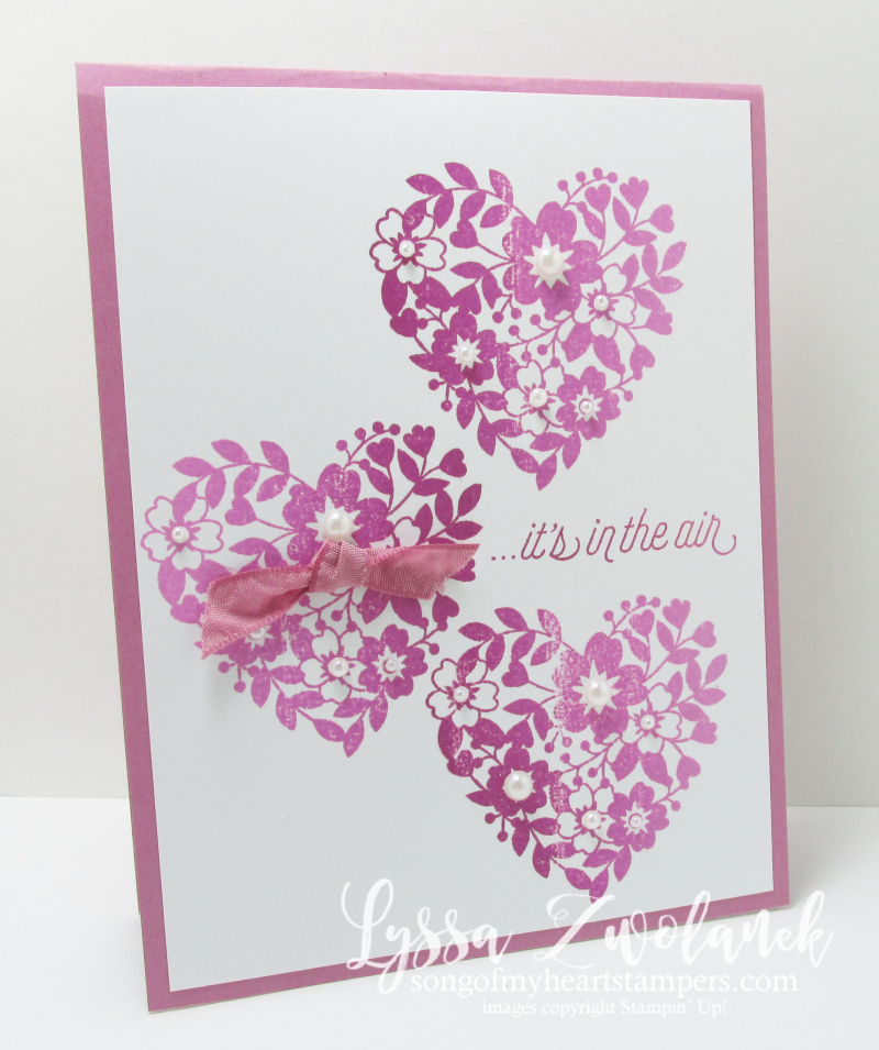 Ombre hearts love card stampin up songofmyheart