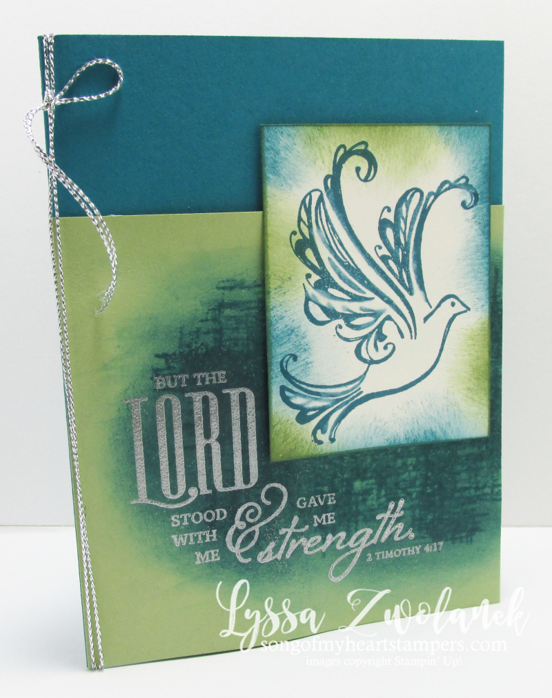 Strength Prayers Praying Card Stampin Up Dove Scripture verse