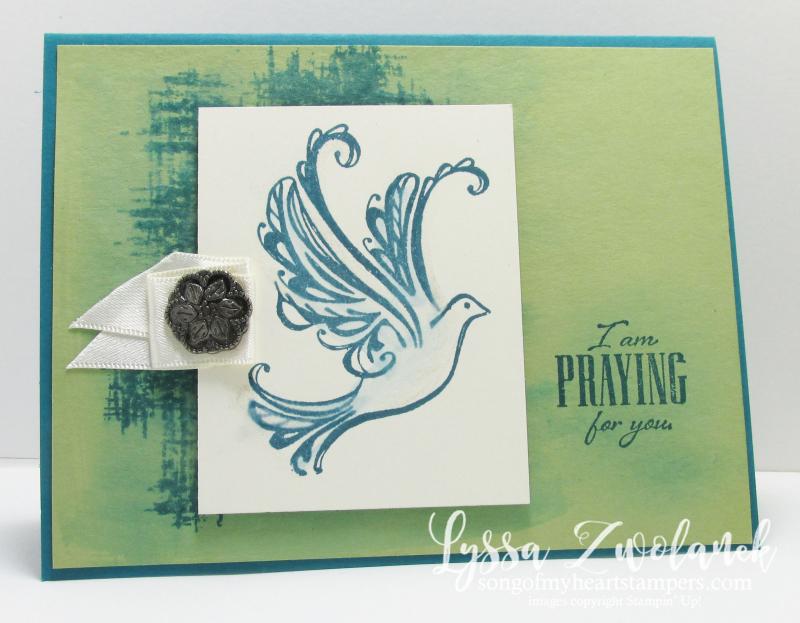 Strength Prayers Praying Card Stampin Up Dove Scripture verse