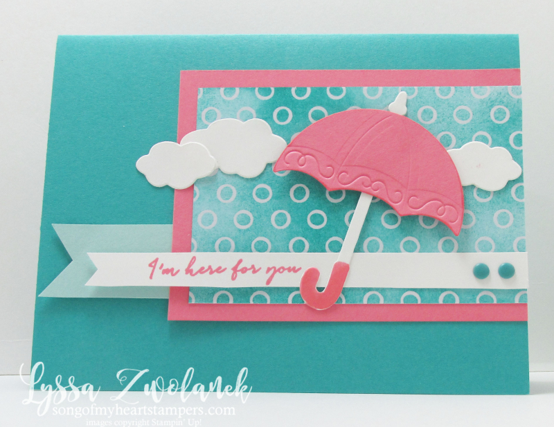 Umbrella Weather Together stampin up songofmyheart card
