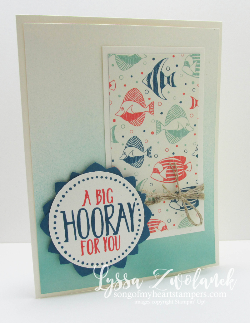 By The Sea Ombre Spritzing Technique Tutorial Stampin Up DIY Cardmaking SOMH